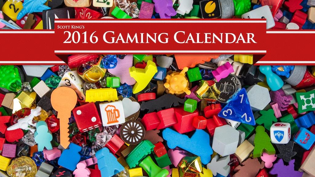 2016 Gaming Calendar project video thumbnail