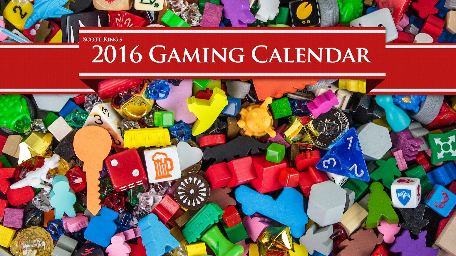 A 2016 Calendar featuring some of the coolest and prettiest board games of all time.
