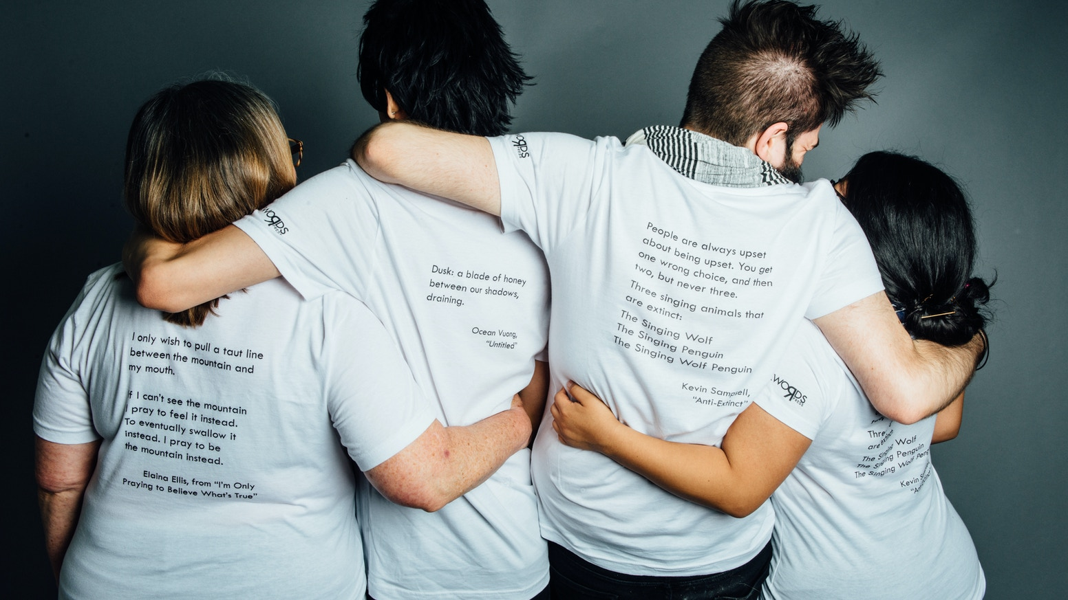 BACKWORDS Press: your favorite t-shirt as art, featuring more engaging words, and supporting more writers.