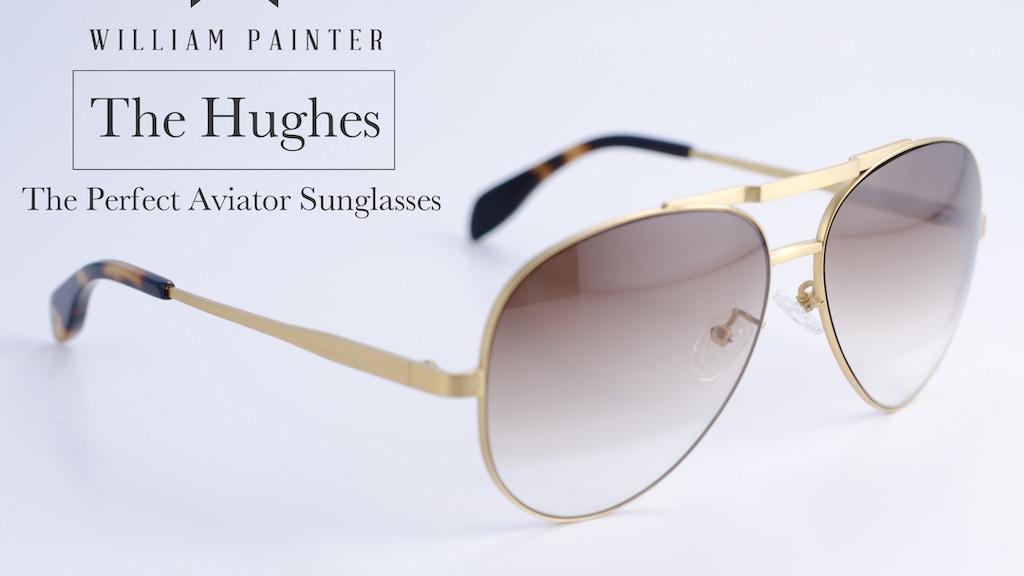 The Hughes - Aerospace Grade Titanium Aviator Sunglasses project video thumbnail