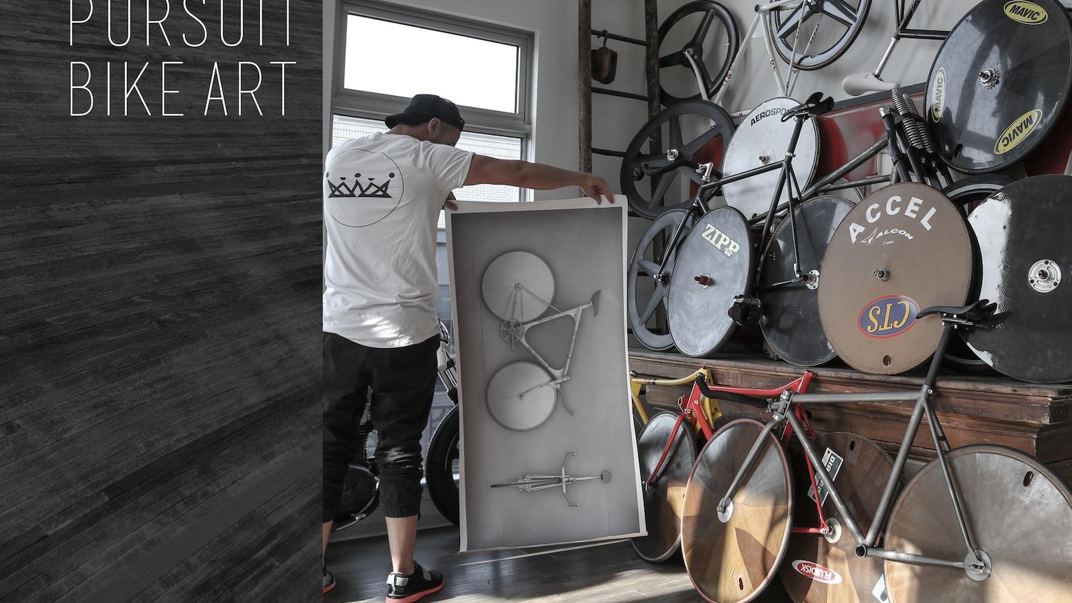Track Bicycle Art - Pursuit Bike Canvas Print by Michael