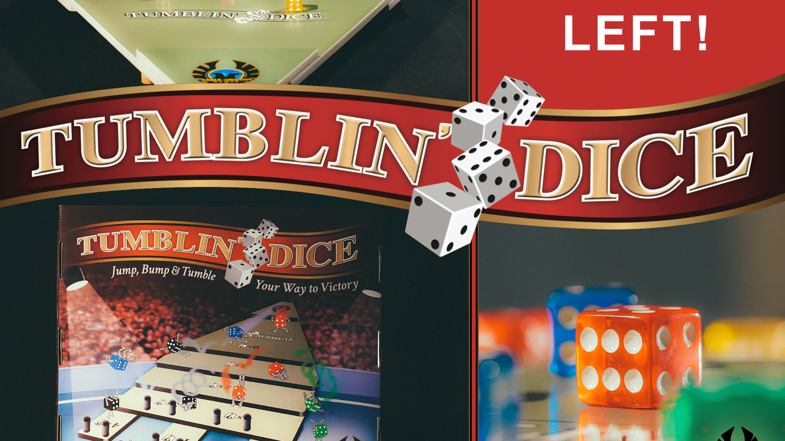 Take a chance on Tumblin' Dice, a table-top game of precision and luck that will test your dexterity as you roll for the highest score.