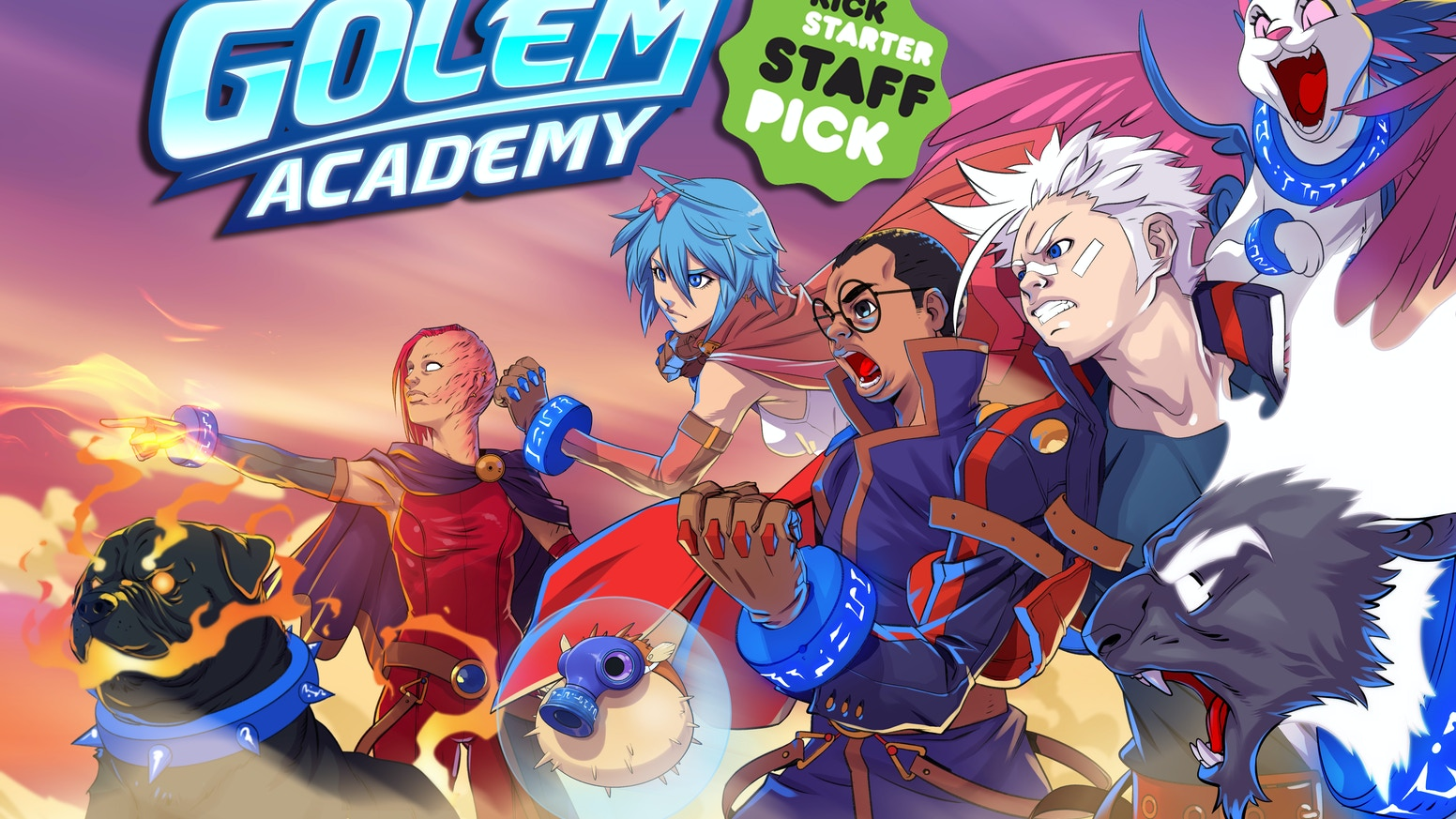 Golem Academy is an independently developed action anime card game! It takes our favorite anime attributes and forces them into a game.