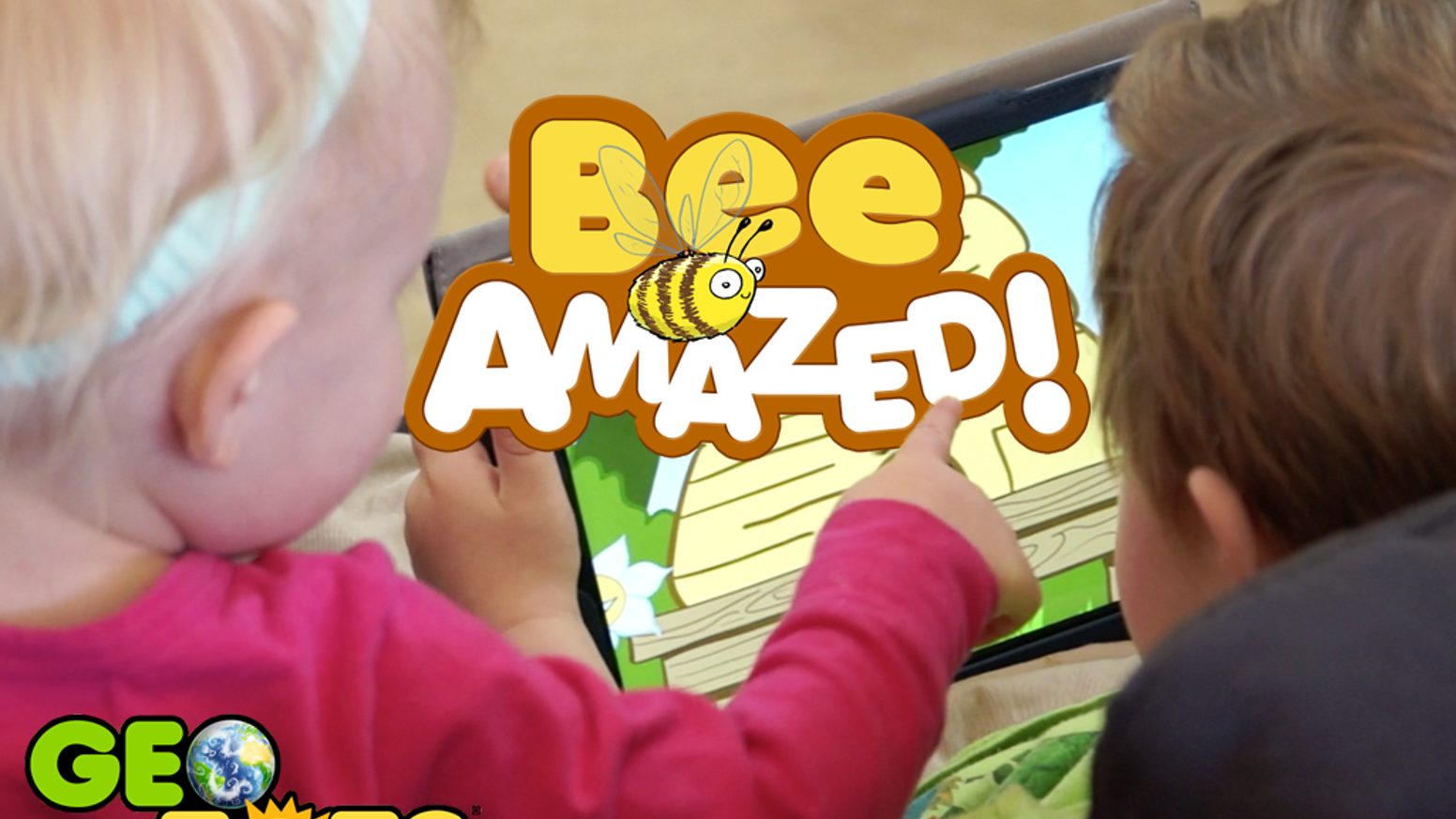 Bee Amazed! Geo Tots' eco-educational apps for tots ages 2-8.  Honey bee mazes teach Who's Who in the Hive!