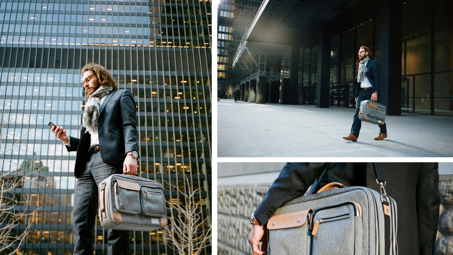 A Smart Utility Briefcase That Offers Three Ways of Carrying-Fully Convertible to Backpack,Briefcase and Carryon,Canadian Craftsmanship