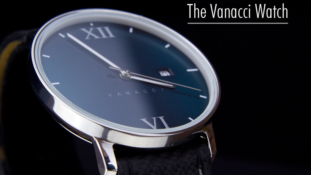 The Vanacci Watch: Minimal Design With Carbon Leather Strap project video thumbnail