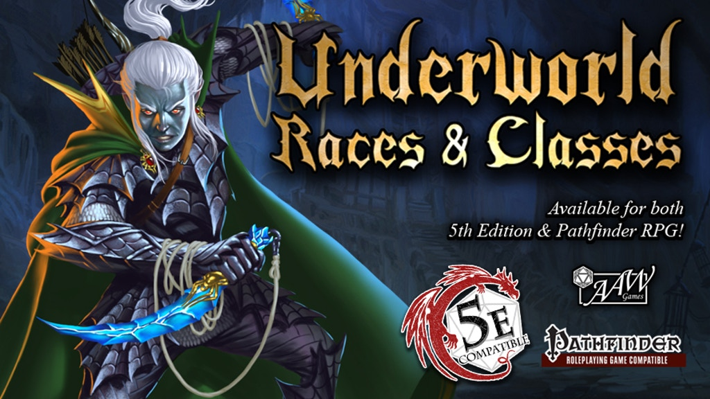 Underworld Races & Classes for 5th Edition & Pathfinder RPG project video thumbnail