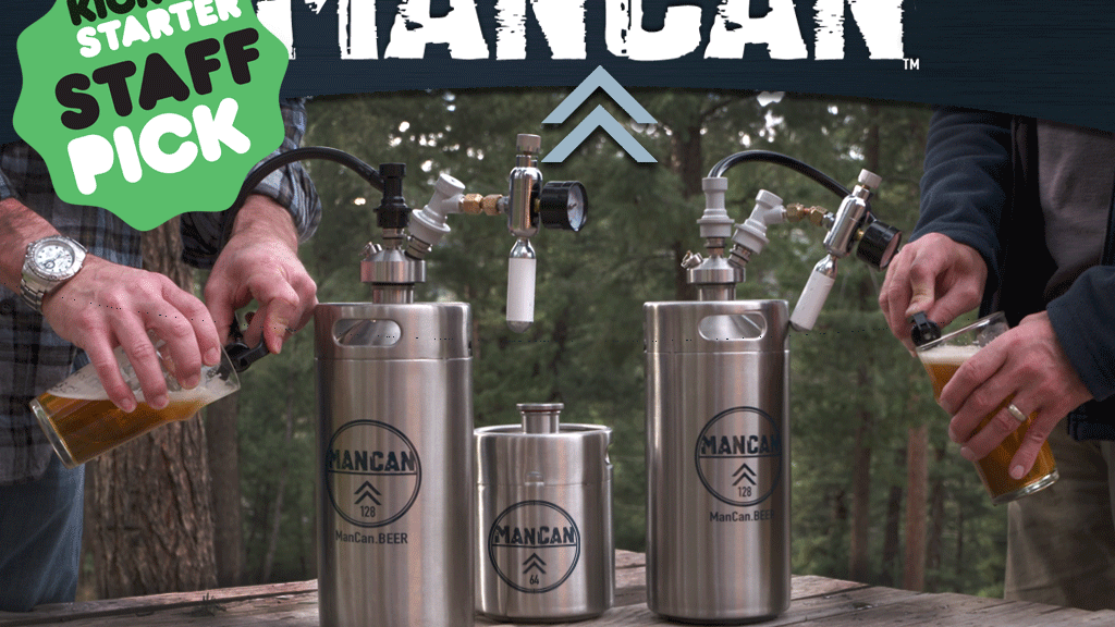 ManCan - Put a Brewery of Beer In Your Fridge, Not a Growler project video thumbnail
