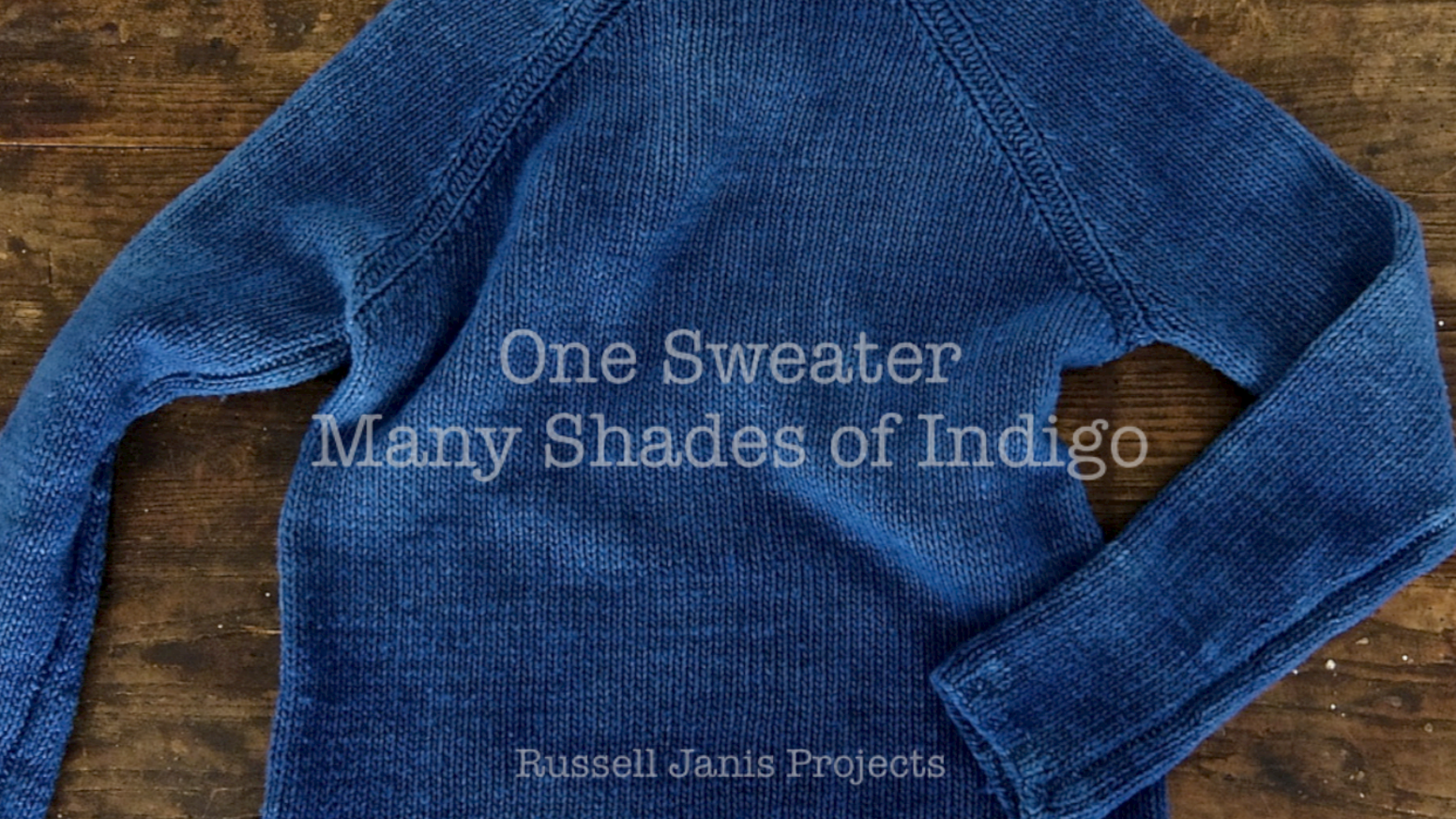 A quest to make one thoughtful beautiful sweater brought a global production home distilling years of design and the alchemy of indigo. Details at russelljanis.com at the link below!