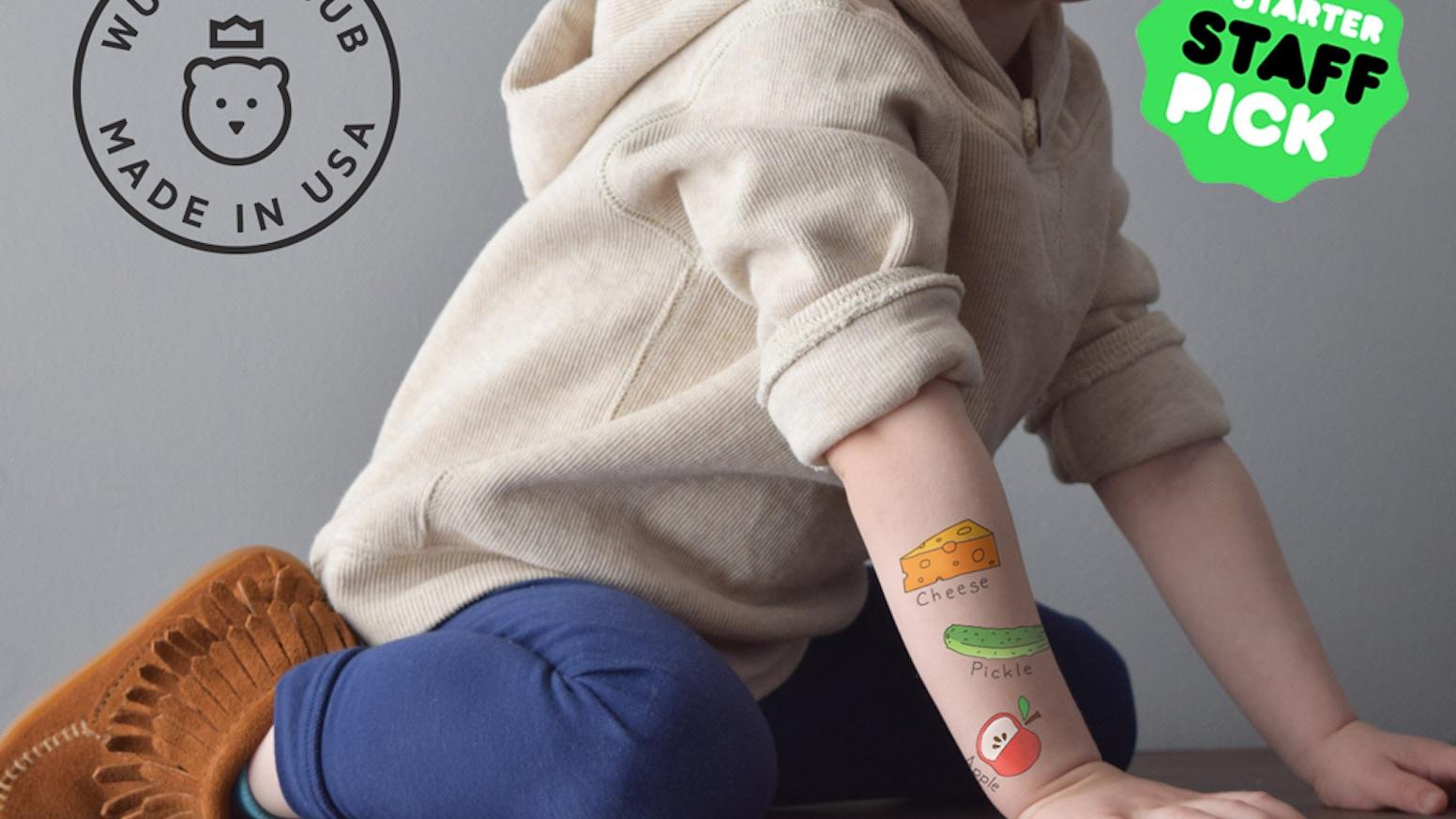 WUNDERCUB: Educational Temporary Tattoos by Lindsay & Anthony Lane ...