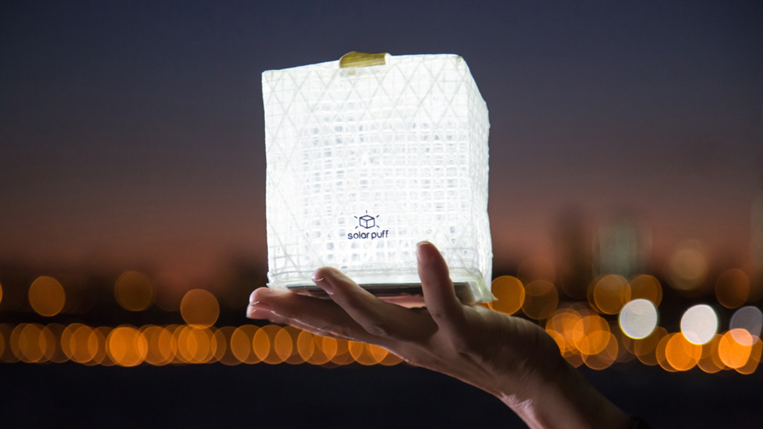 Solarpuff is a little lantern with a HUGE impact. It is a patent pending solar powered lantern that packs flat and easily pops open. Thank you Kickstarters!You can get our light share the light and send light by going to our website www.solight-design.com
