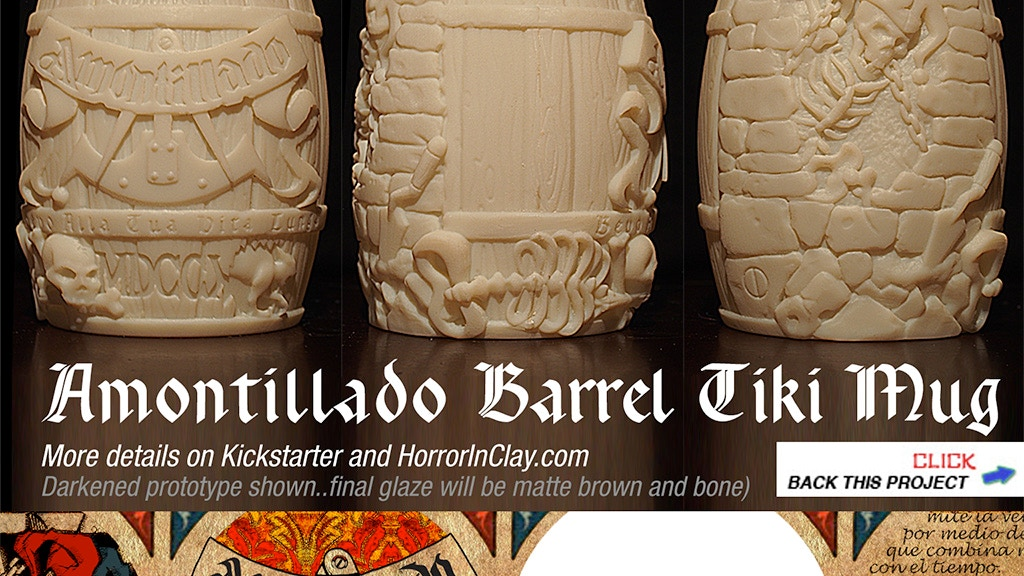 Cask of Amontillado Barrel Tiki Mug from Horror In Clay project video thumbnail