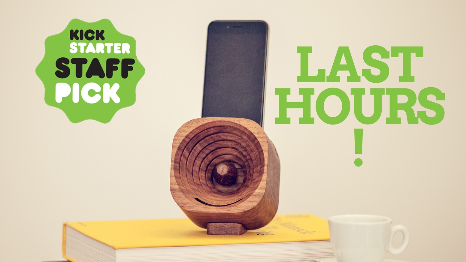 The portable and sustainable solution that enhances your phone's sound in style.