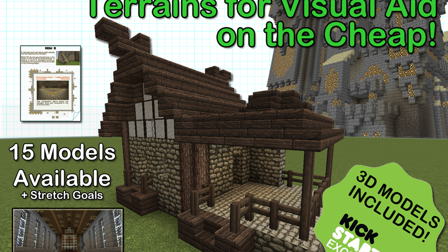 Help me cover typesetting fees to create step by step pdf tutorials to build 3d visual aids for dd or pathfinder using minecraft