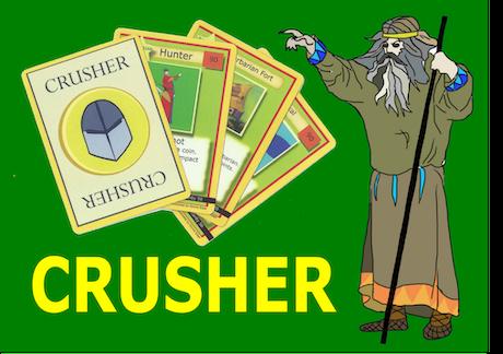 crusher trading card game by richard cismas kickstarter. Black Bedroom Furniture Sets. Home Design Ideas