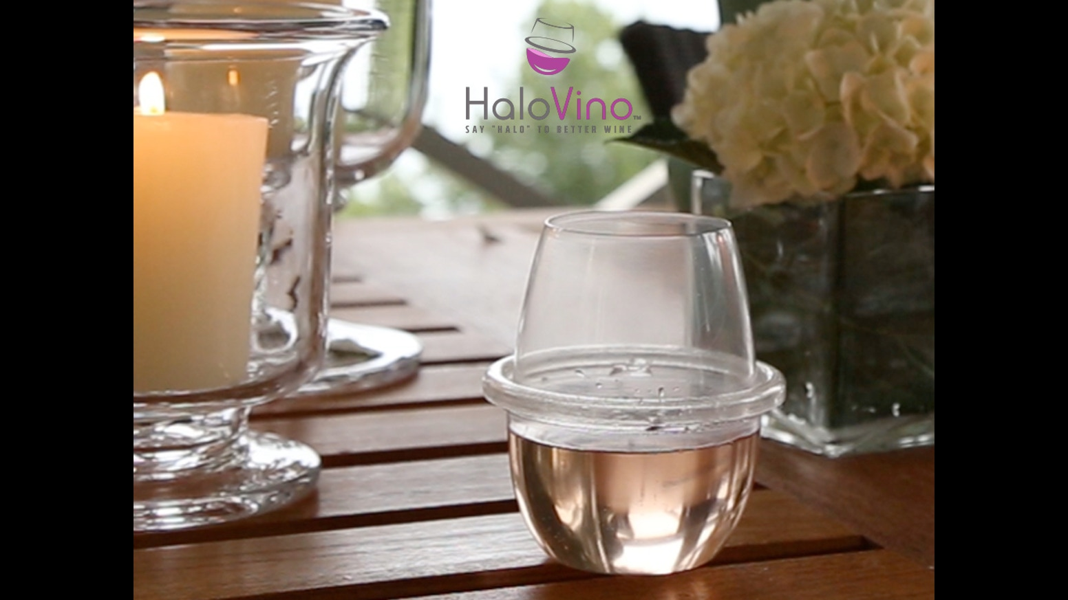 Halovino Shatterproof Stackable Stemless Wine Glass By