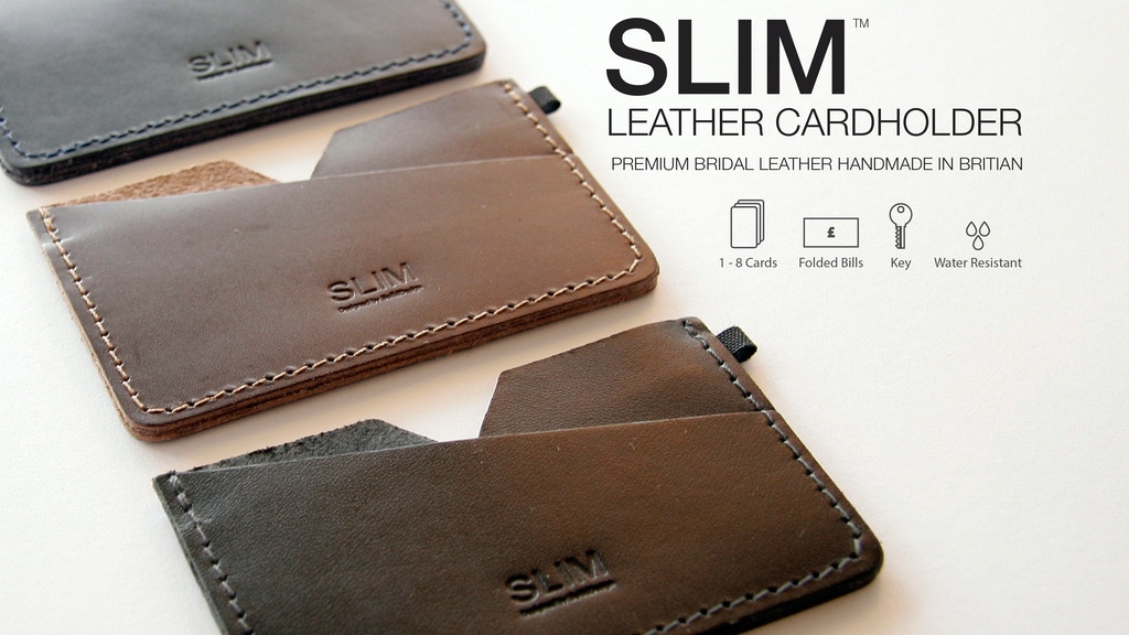 SLIM - Premium Leather Cardholder project video thumbnail