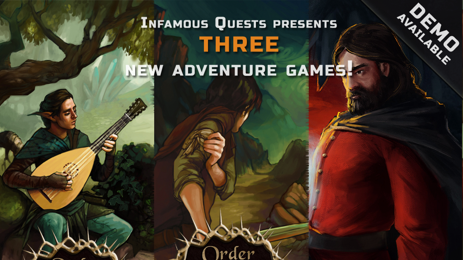 Support Infamous Quests and help them complete their two new upcoming Point & Click Adventure Games!