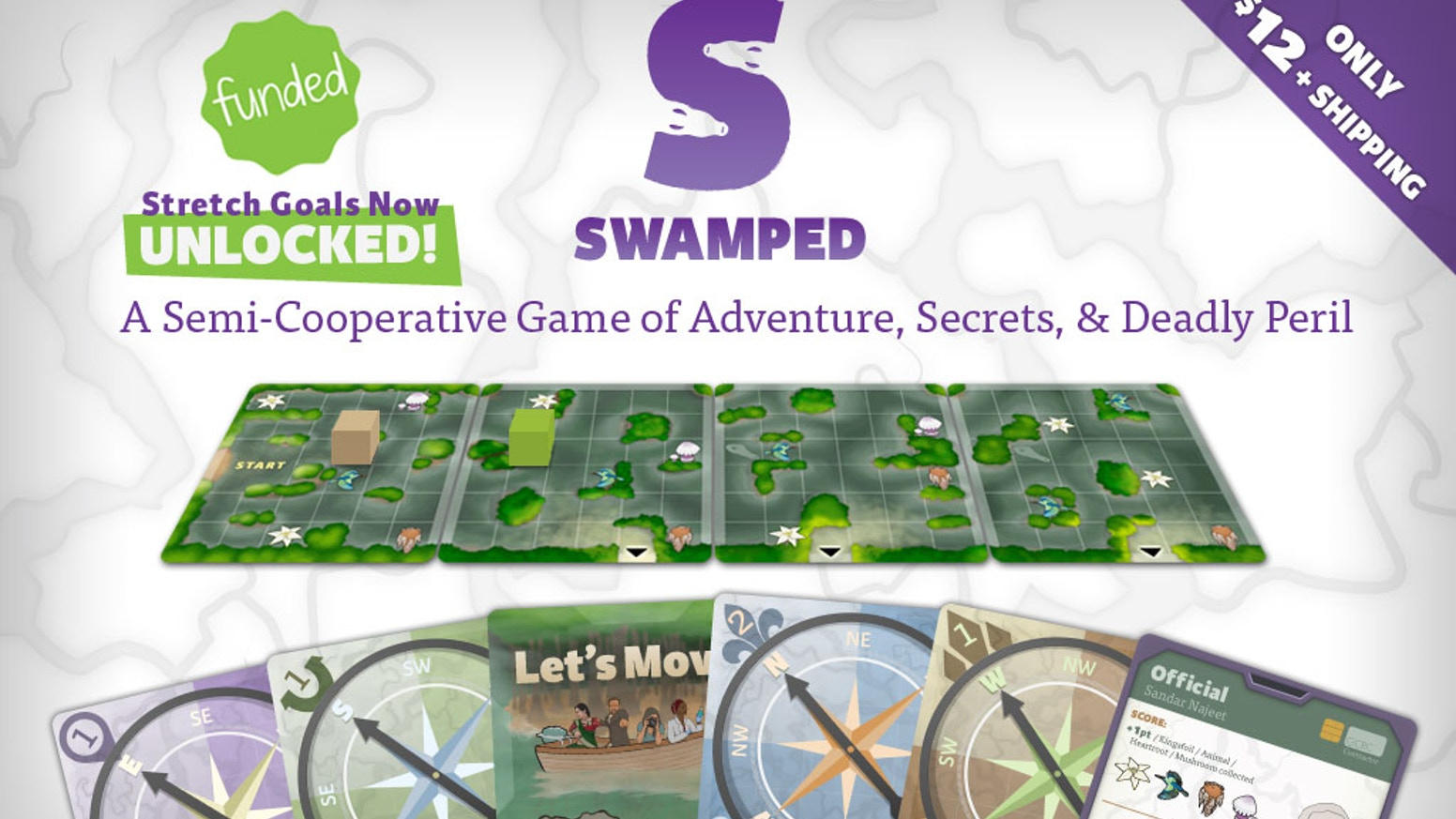 Can you survive a journey into the world's most feared swamp? A perilously fun card game for 2-4 adventurers.