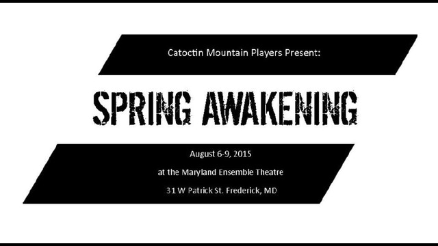 Spring awakening presented by catoctin mountain players by for Mountain motors frederick md