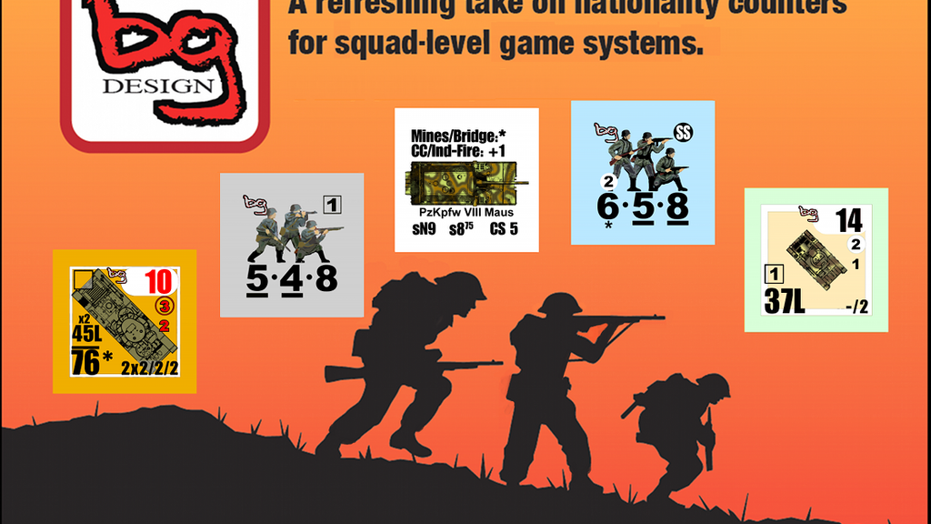 Project image for Squad-level Game Counters by Broken Ground Design