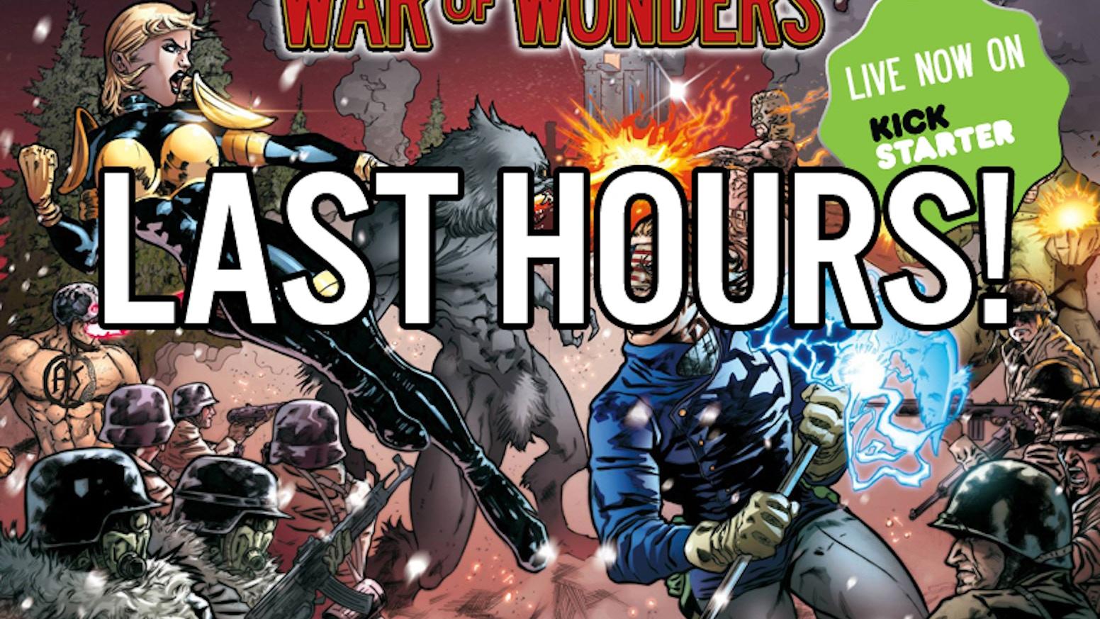 War of Wonders miniature game - Superheroes fighting in WWII
