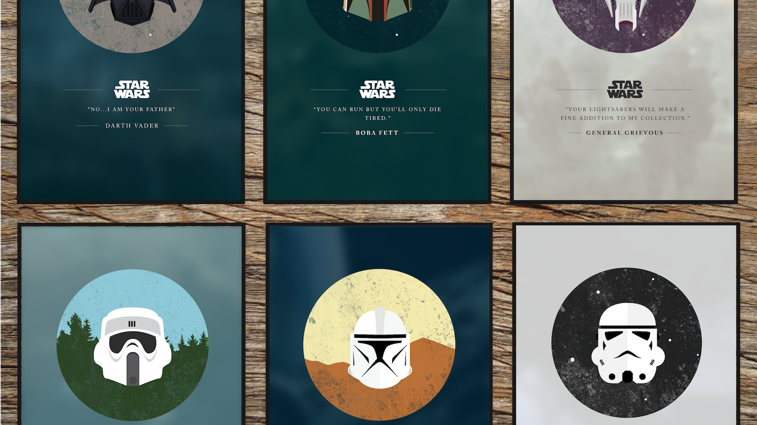 "The Dark Side: Masked is a collection posters that illustrate various masked ""Dark Side"" characters in the Star Wars series."