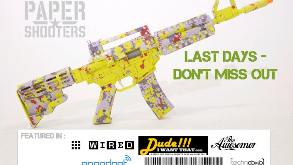 PaperShooters™: Build a Cardboard Blaster that Shoots Paper! project video thumbnail