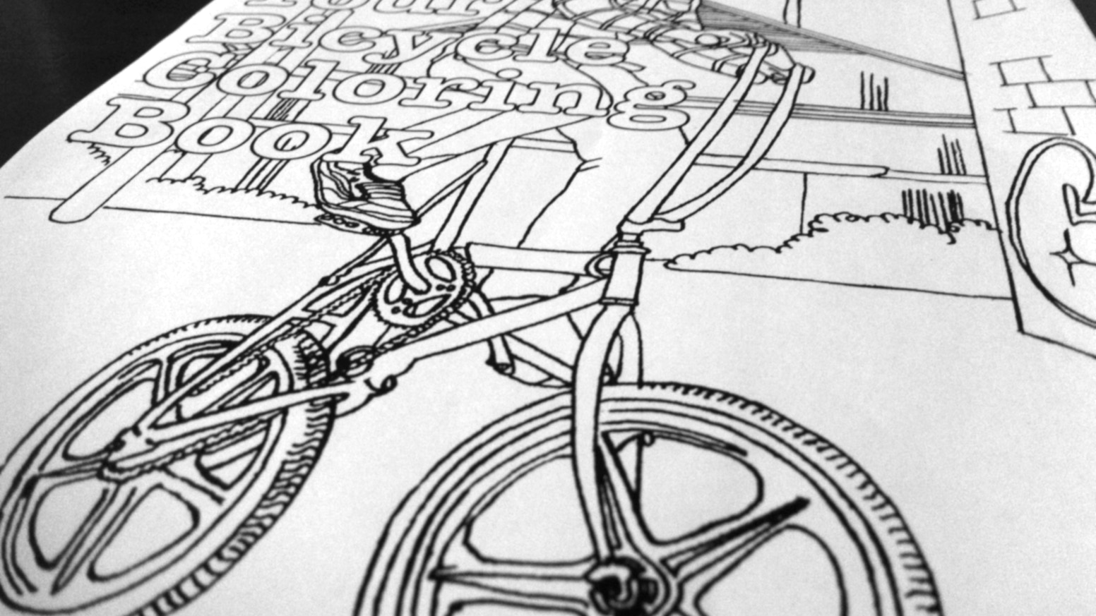 a bicycle coloring book with pictures of real riders including you - Bicycle Coloring Book