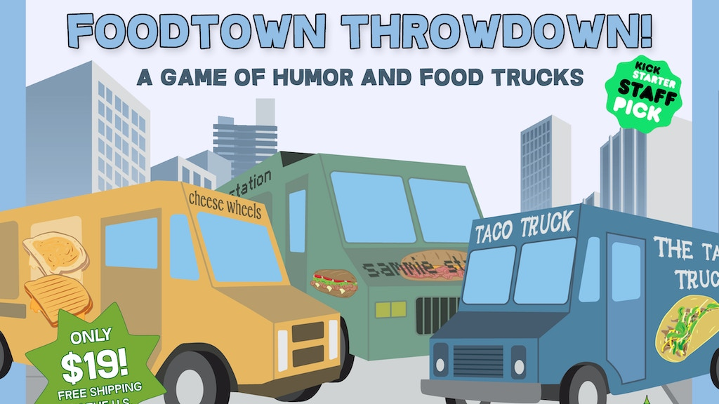 Foodtown Throwdown - A game of humor and food trucks project video thumbnail