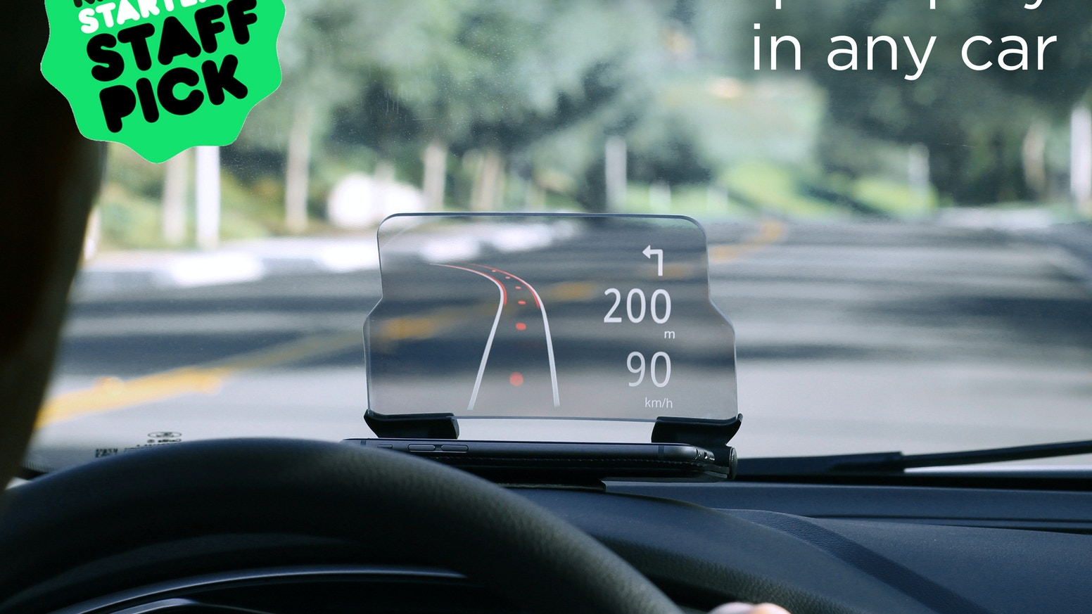 A universal vehicle accessory turning your smartphone into a head up display hud
