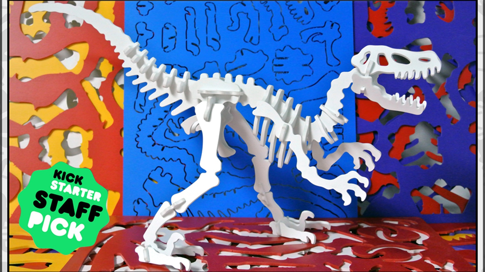 Colorful 3D dinosaur puzzles made in Brooklyn- Boneyard Pets are back with new designs, new material, and affordable pricing.