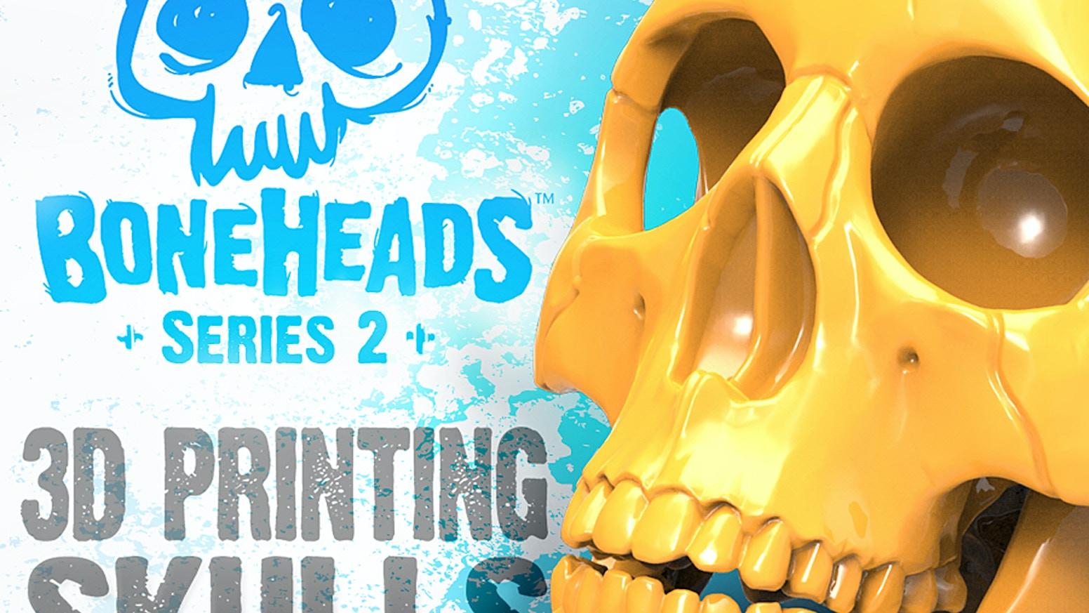 3D Printer Skull Kits: Boneheads Series 2 via 3DKitbash com by