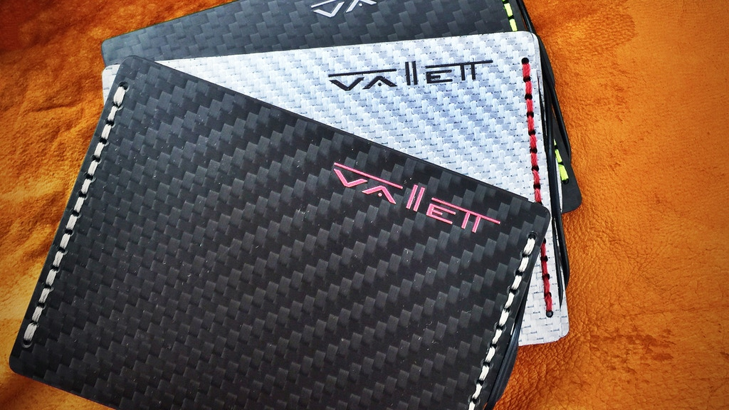 Vallett - A Carbon Fiber Wallet the Size of a Credit Card project video thumbnail