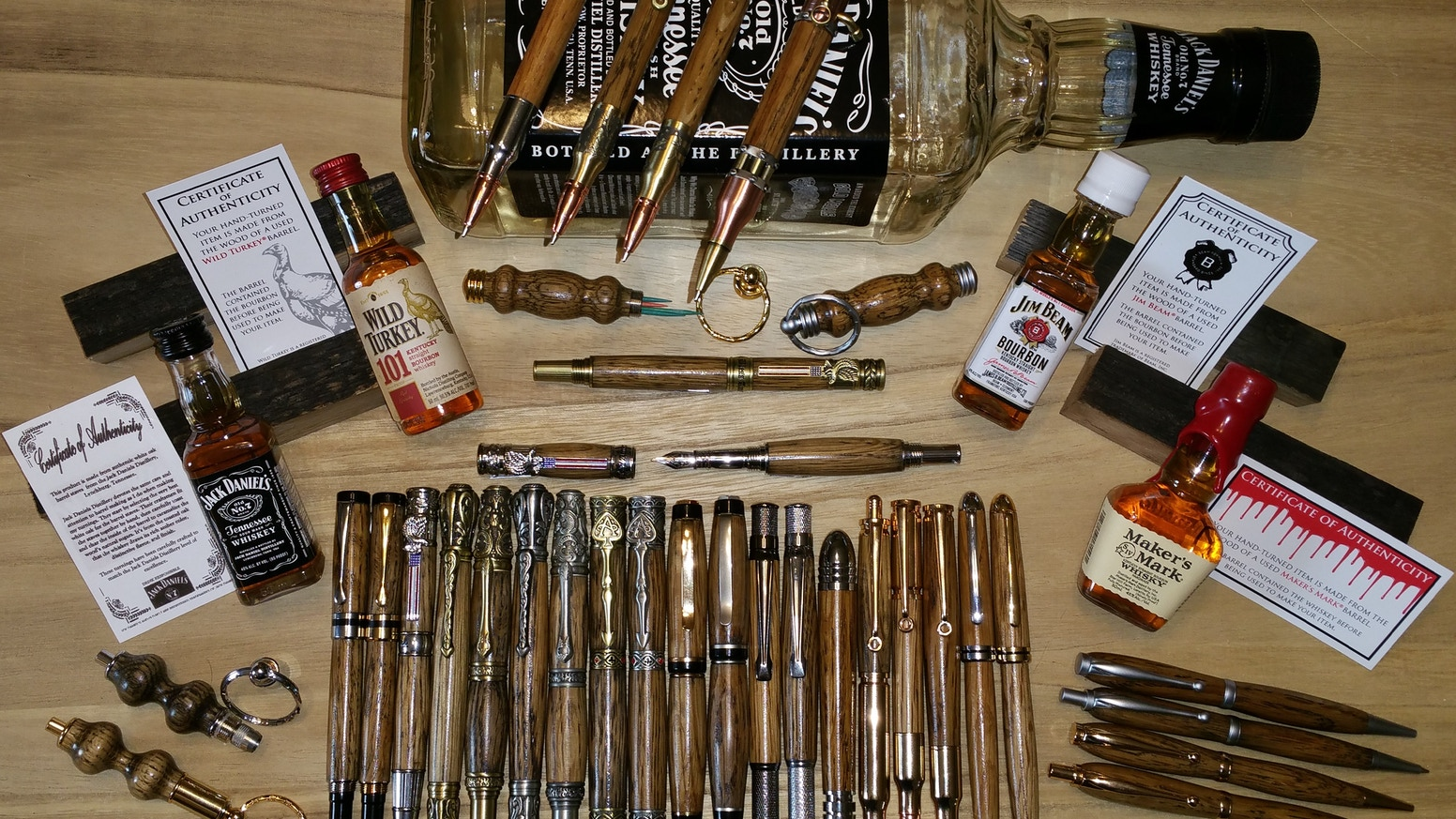 Wood Pens Made From Whiskey Barrel Staves By Robert Wright Things