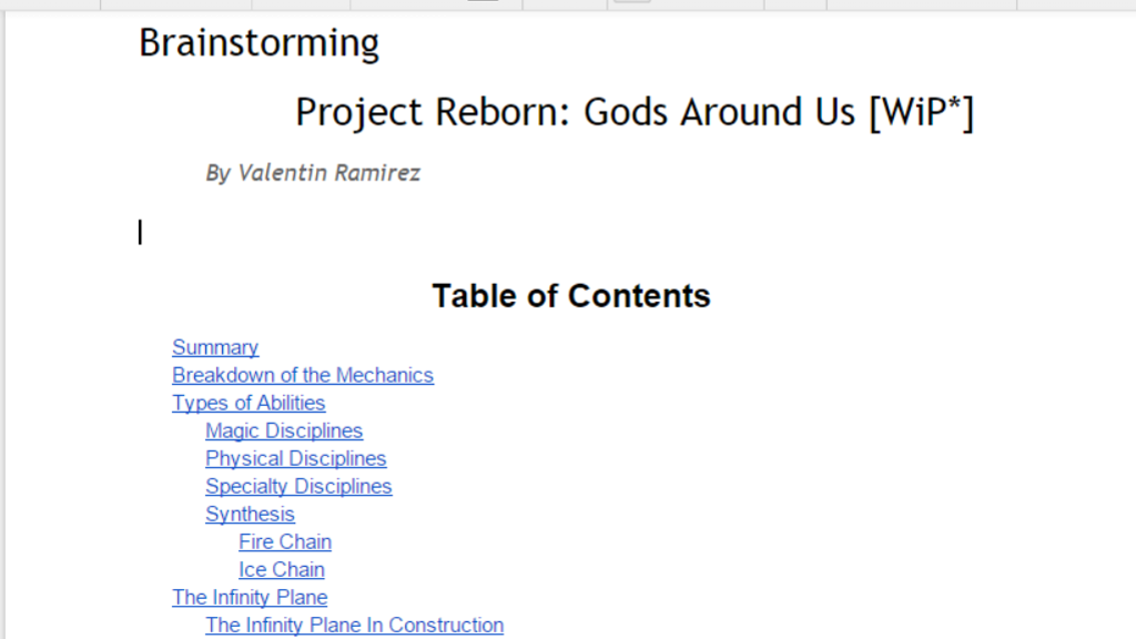 Project image for Project Reborn: Gods Around Us