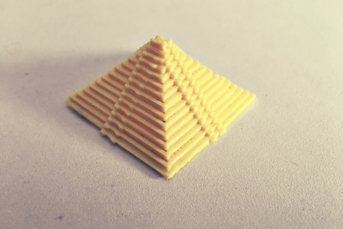 the small Pyramid Printed in the above video