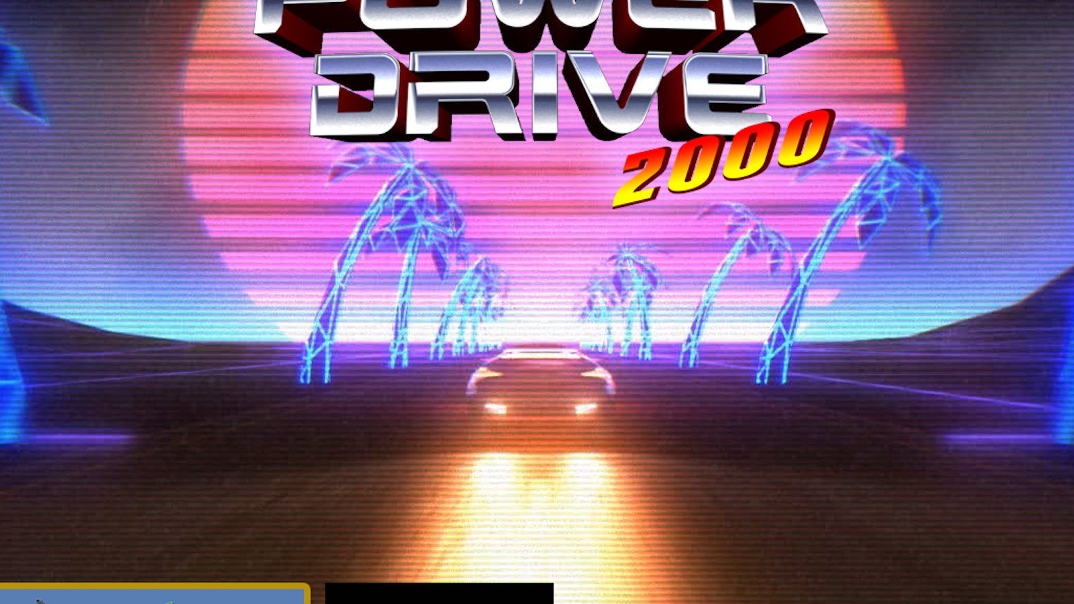An 80's sci-fi inspired arcade racer...with a talking car.