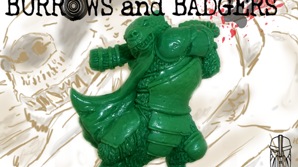 Burrows & Badgers - anthro animal miniatures project video thumbnail