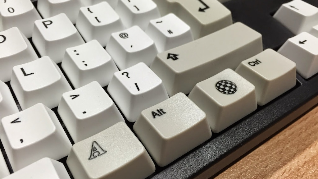 Amiga inspired key caps for mechanical keyboards project video thumbnail