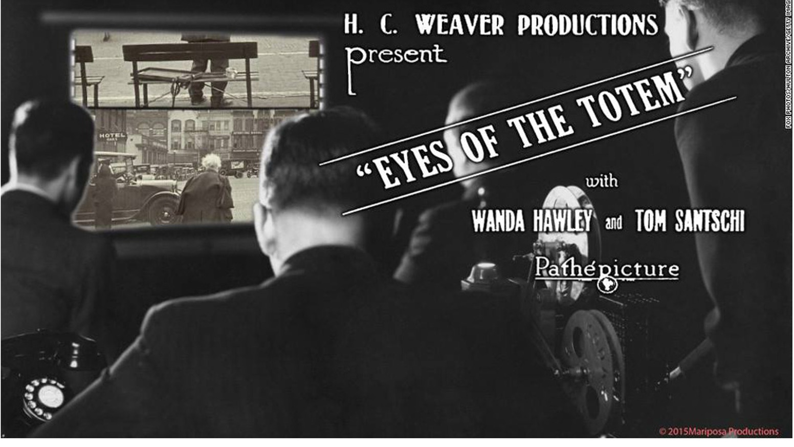 Thank you for helping us re-premiere the long lost 1926 silent film THE EYES OF THE TOTEM made by HC Weaver Productions in Tacoma. The re-premiere will be on September 18th, 2015, at the Rialto Theater in Tacoma.