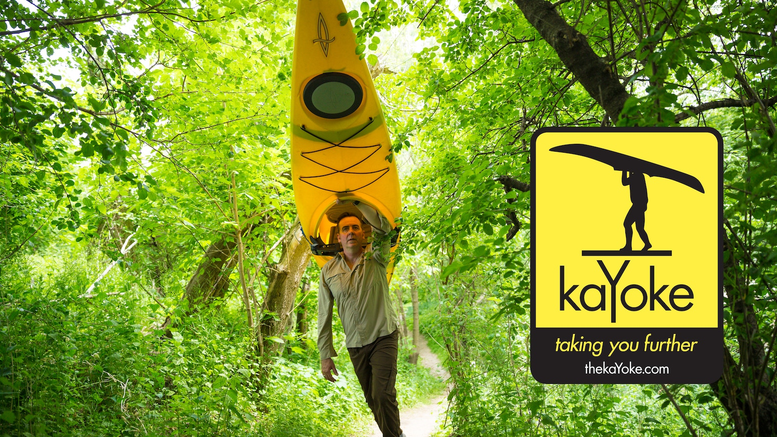 KaYoke - a lightweight, compact system to transport a kayak  by