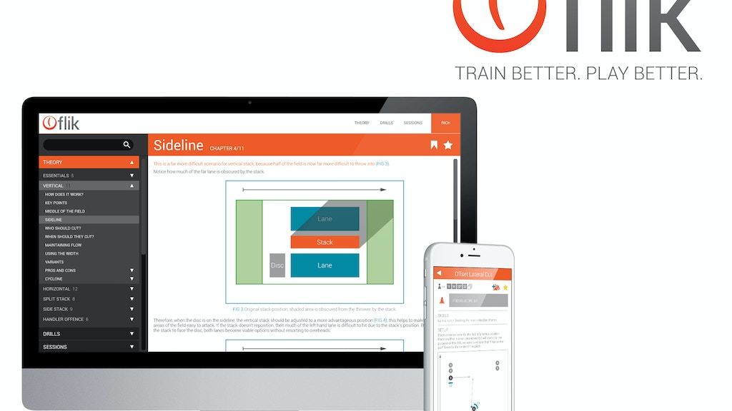 Flik: coaching tool for ultimate. Train better. Play better project video thumbnail