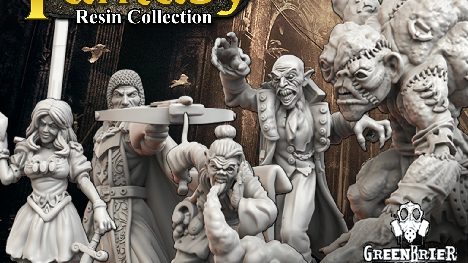 A fantastic collection of gorgeous Fantasy resin miniatures with customizable parts for your favorite RPG, tabletop, & miniature games!