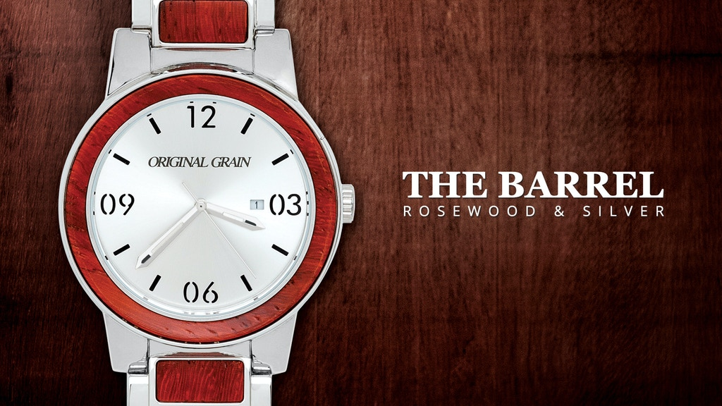THE BARREL: Handcrafted Watch made w/ Whiskey Barrel Wood project video thumbnail