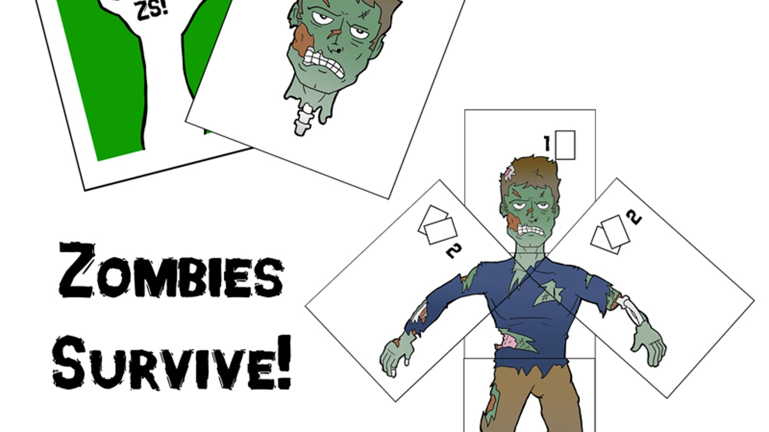 Play as a zombie trying to survive against angry citizens in this fun-for-all-ages card game. Simple, engaging, and fast-paced!