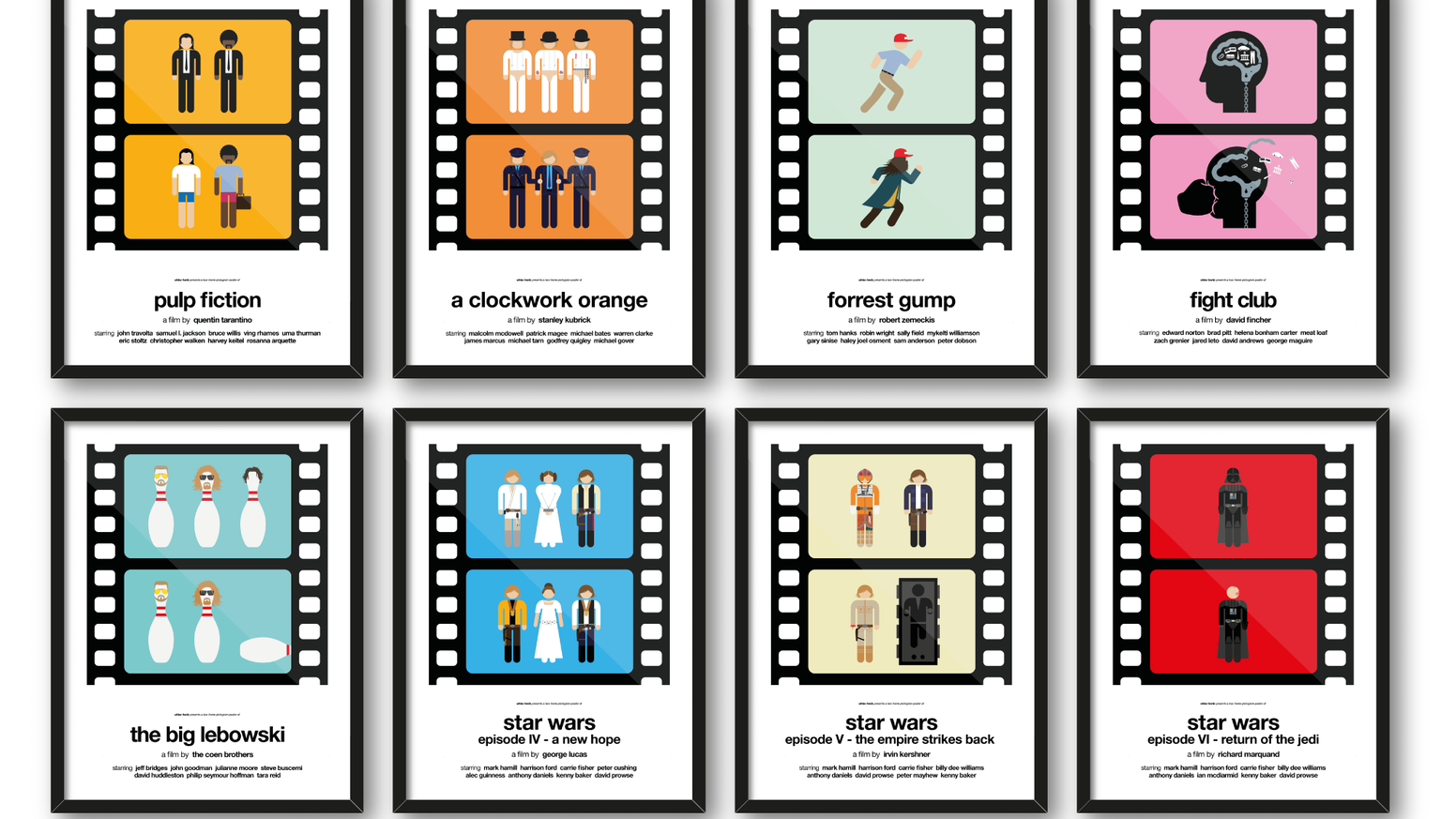 Two-frame pictogram movie posters by Viktor Hertz — Kickstarter
