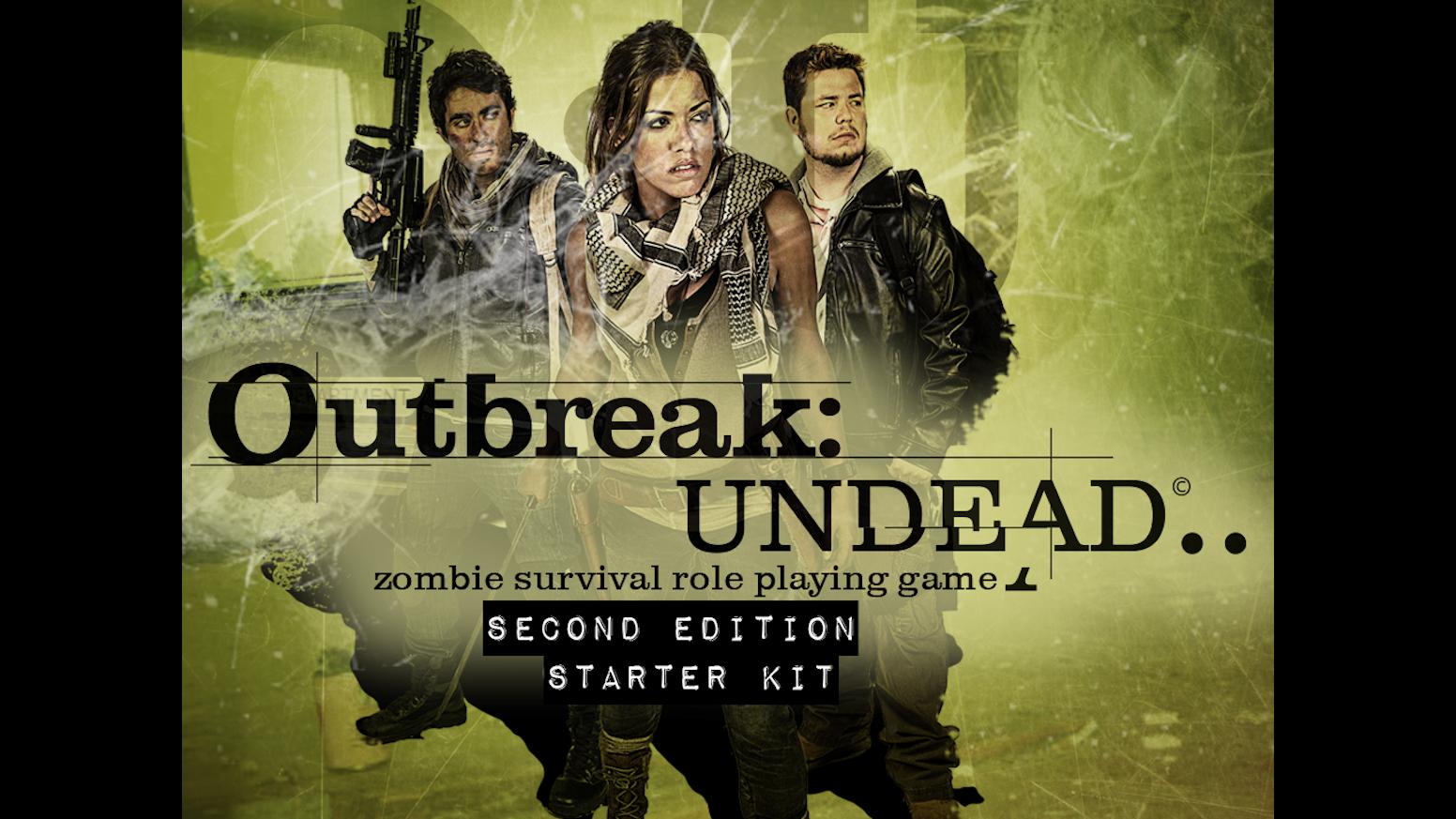 outbreak undead 2nd edition starter kit by hunters books kickstarter. Black Bedroom Furniture Sets. Home Design Ideas