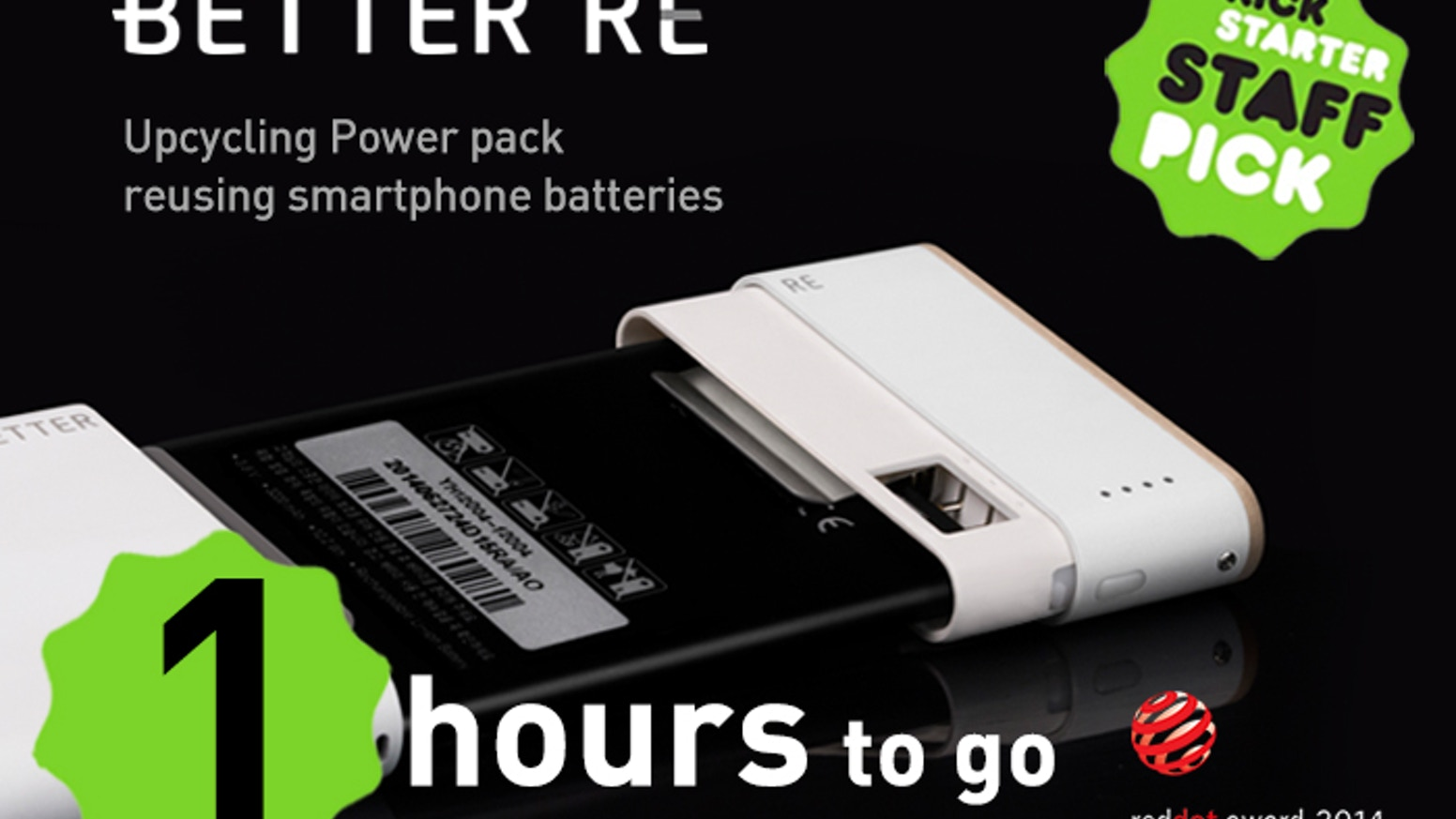 BETTER RE - an Upcycling Power Pack to 'BETTER REuse' your old smartphone batteries, with infinite lifespan and expandable capacity.