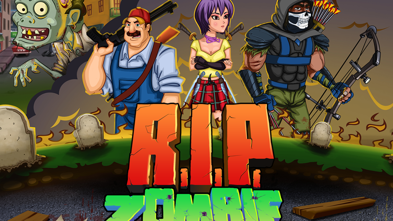 R I P Zombie Ios Mobile Game By Running Babushka